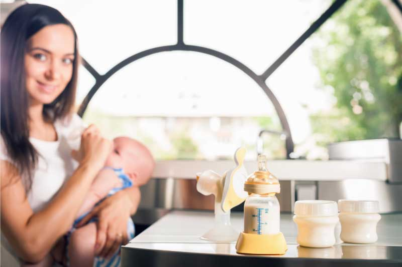veća količina mleka u dojkama